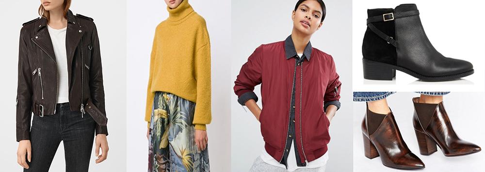 outfit grid womens boyfriend jeans jacket boots jumper