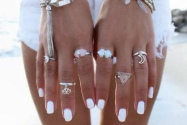 White nail polish summer trend