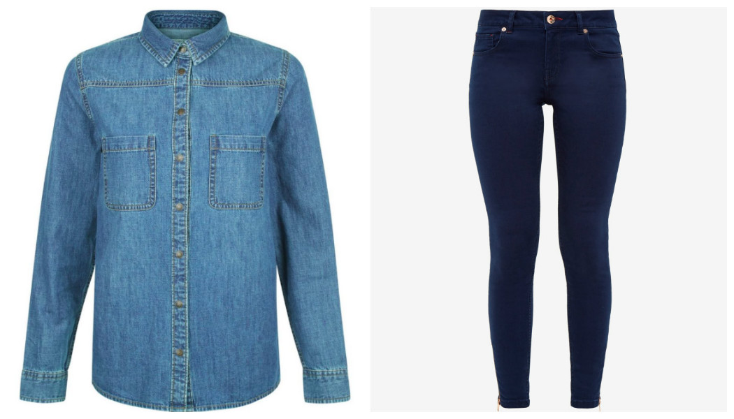 denim shirt jeans