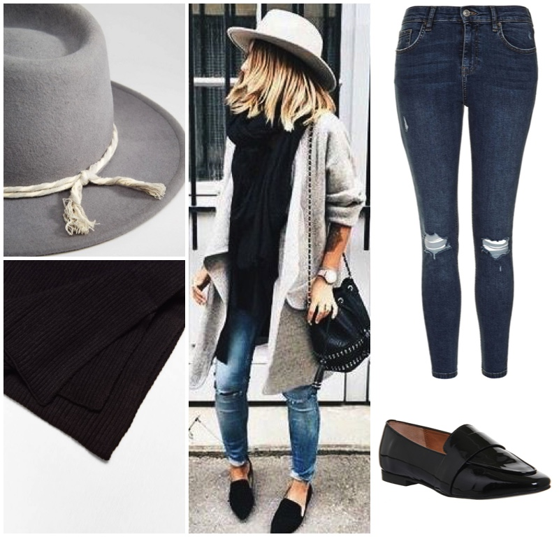 skinny-jeans-black-loafers-grey-fedora-black-scarf
