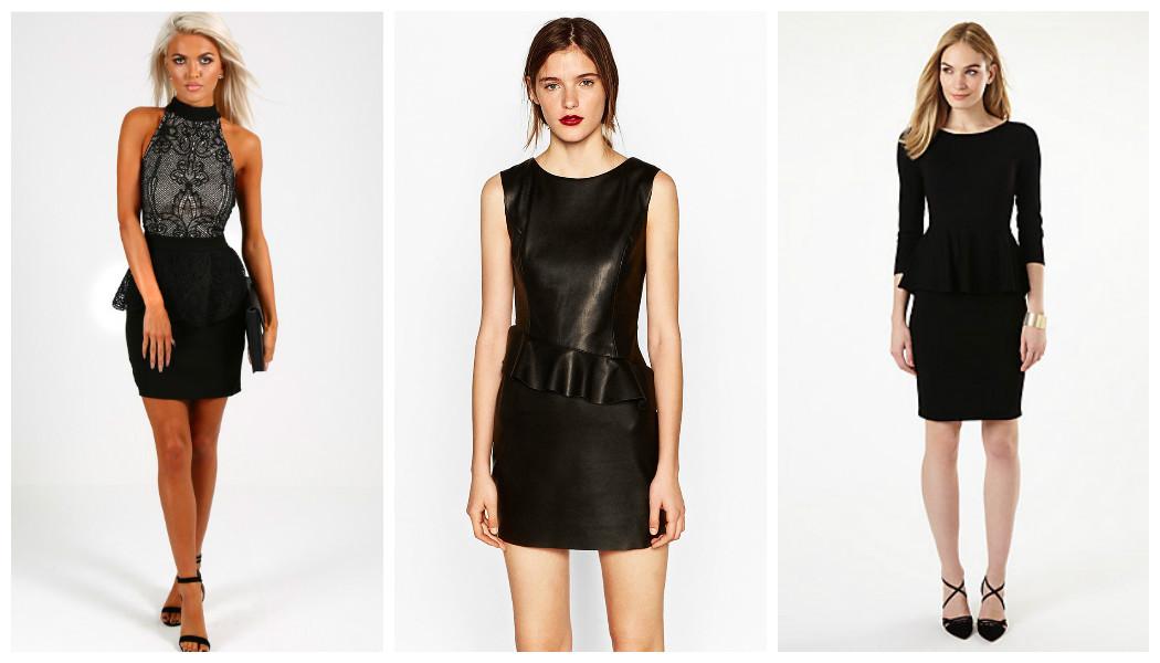little-black-peplum-dresses