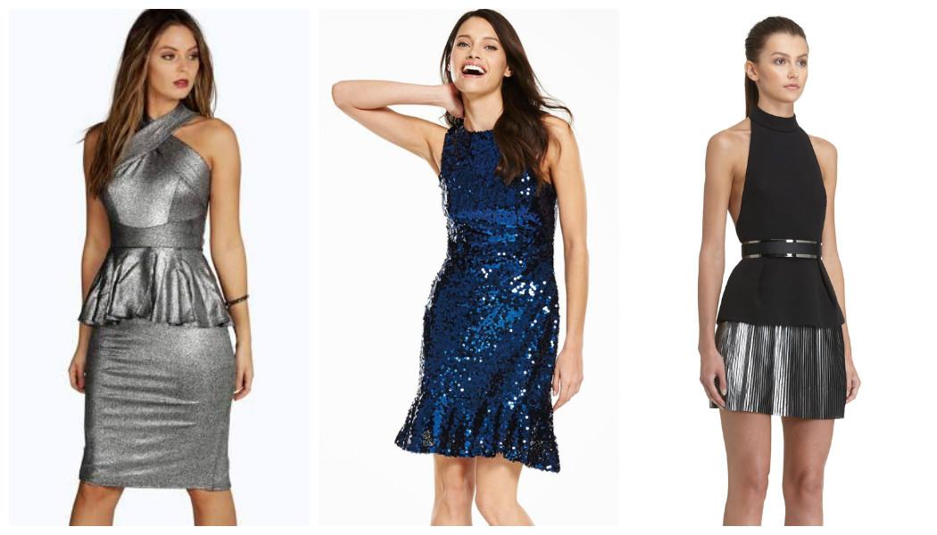 metallic-peplum-dresses