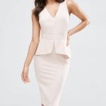 Kate Middleton style cream peplum dress