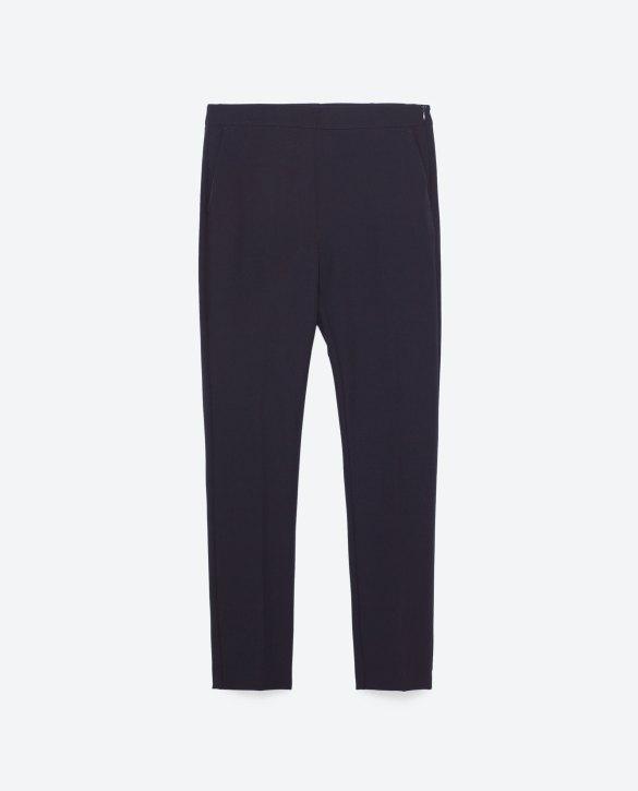 High Waist Navy Trousers at Zara £22.99