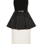 Michael Kors Belted Satin-paneled peplum dress £639