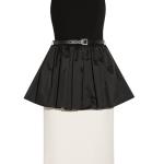 Michael Kors Belted Satin-paneled peplum dress £639