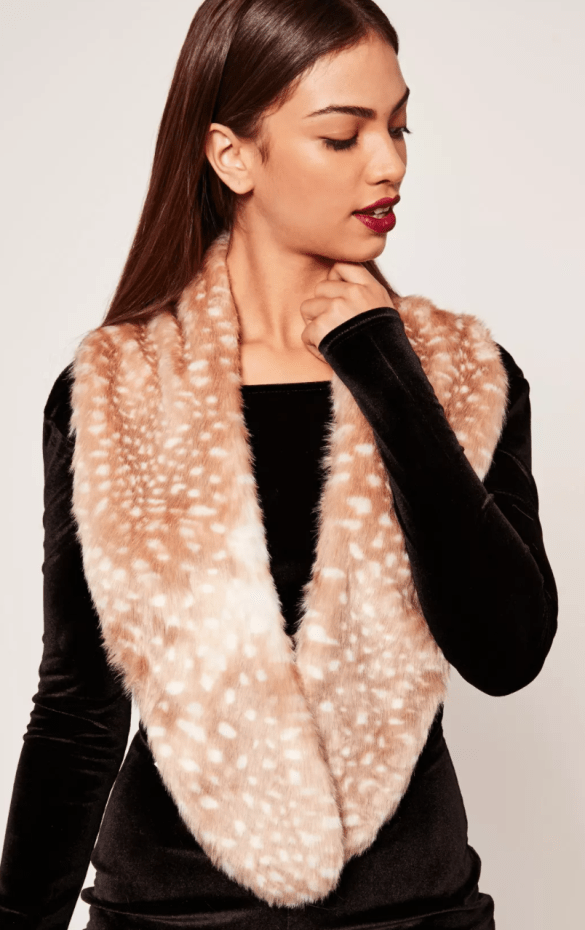 Faux Fur Stole Scarf £7.50 fro Missguided
