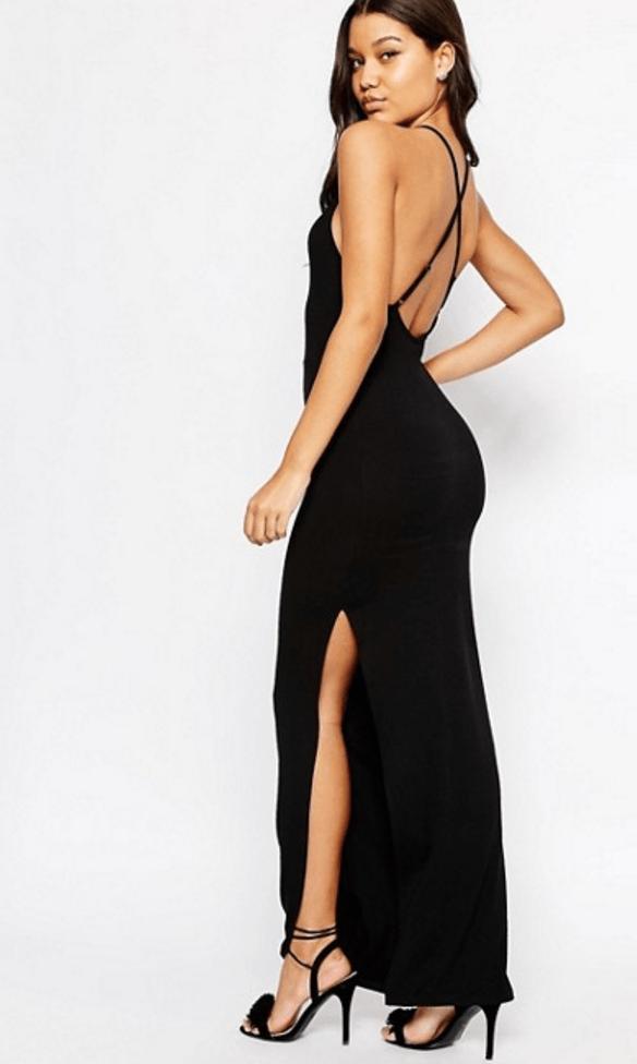 ASOS Halter Strappy Back Maxi Dress £22