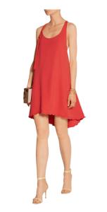 Adam Lippes Asymmetric silk-crepe mini dress £280
