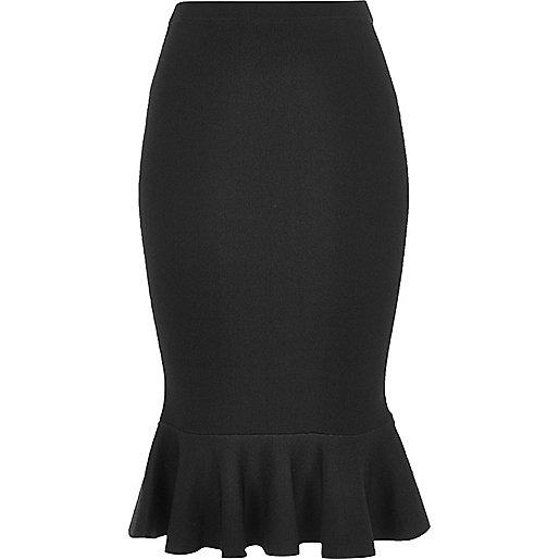 Black flute hem pencil skirt £40 from River Island