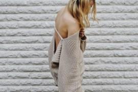 Streetstyle beige backless jumper