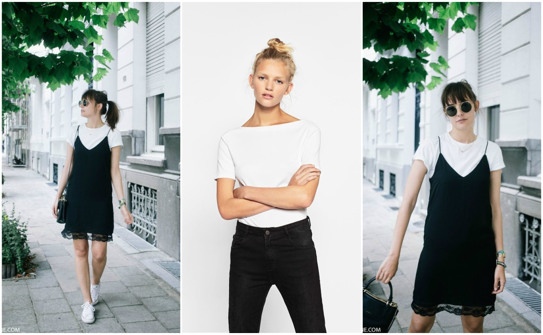 outfit-grid-white-t-shirt-formal-dress-casual