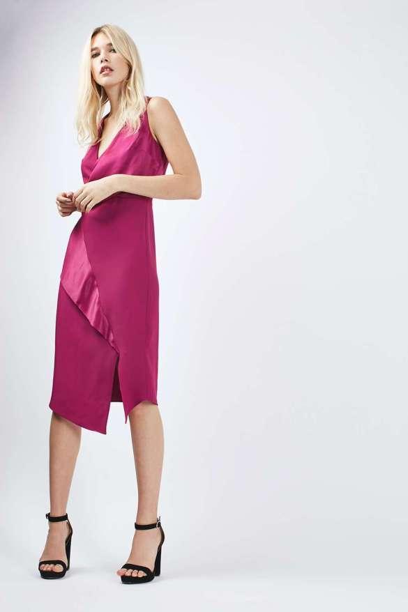 Topshop Drape Front Midi Dress £55