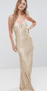 TFNC Bandeau Maxi Dress In Wave Sequin £85.00