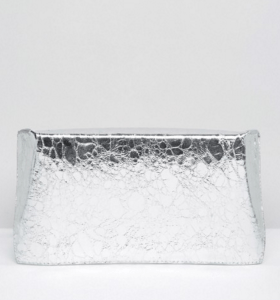 ASOS Metallic Geo Clutch Bag £15.00