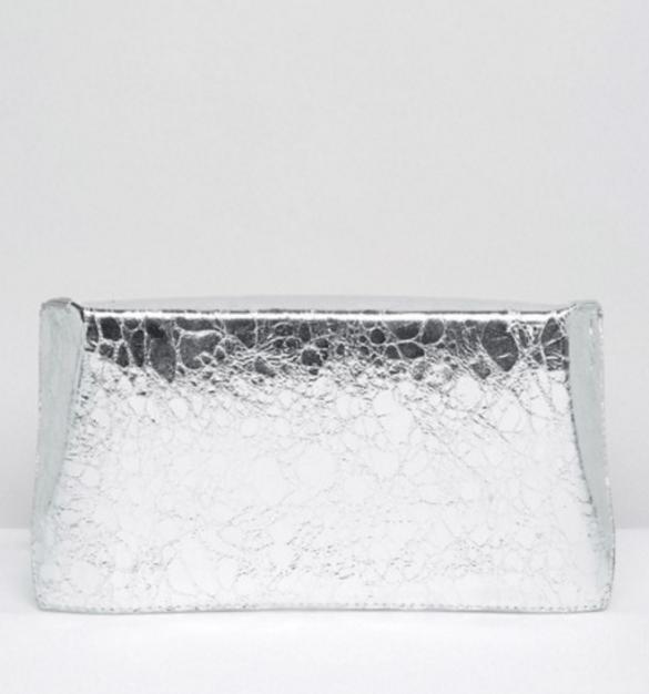 ASOS Metallic Geo Clutch Bag £15.00
