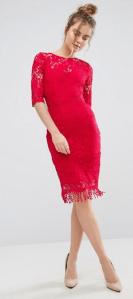 Paper Dolls 3/4 Length Sleeve Lace Dress £68.0