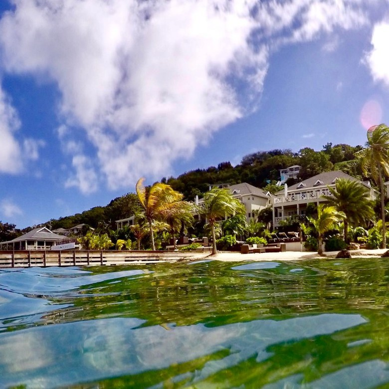 View of south point antigua luxury apartments from the sea (go pro)