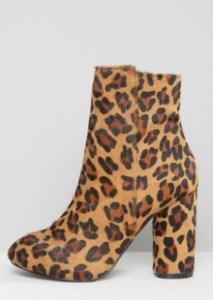 ASOS Miss Selfridge Leopard Print Boots
