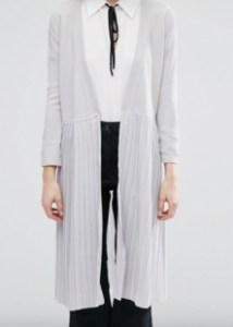 ASOS Lost Ink Pleat Bottom Maxi Cardigan