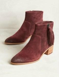 Anthropologie Tassel Boots