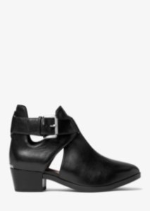 Michael Kors Mercer Cutout Leather Ankle Boots