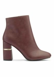 Miss Selfridge Divine Burgundy Split Heel Boots
