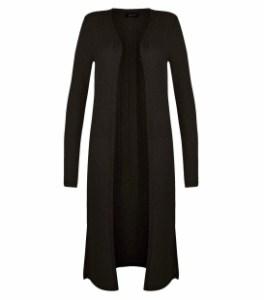 New Look Black Fine Knit Longline Cardigan