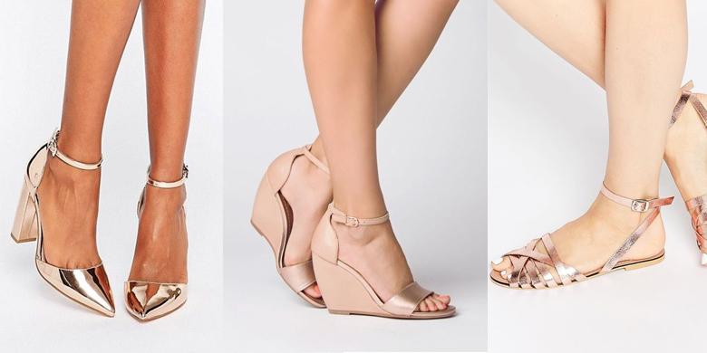 Neutral coloured shoes