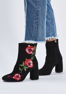 Topshop Madame Embroidery Boots