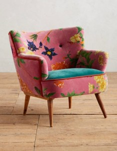Anthropologie Floret Occasional Chair in Rose