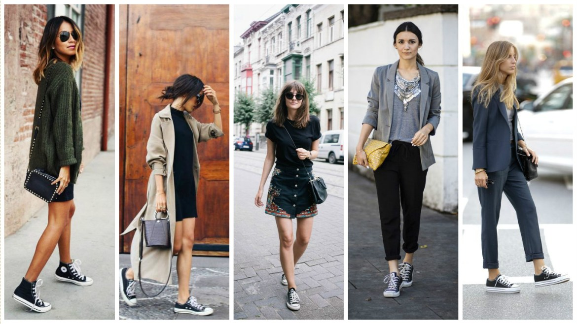 Five women showcase how to wear Converse at night