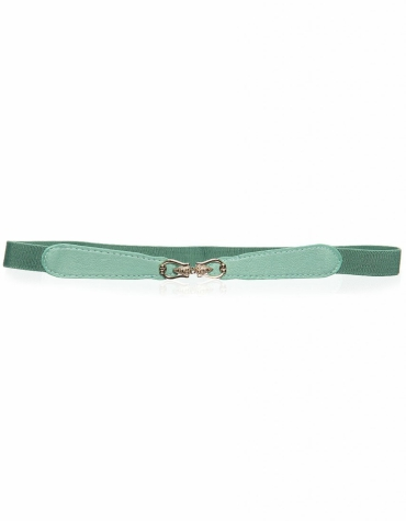 Green waist belt with gold clasp