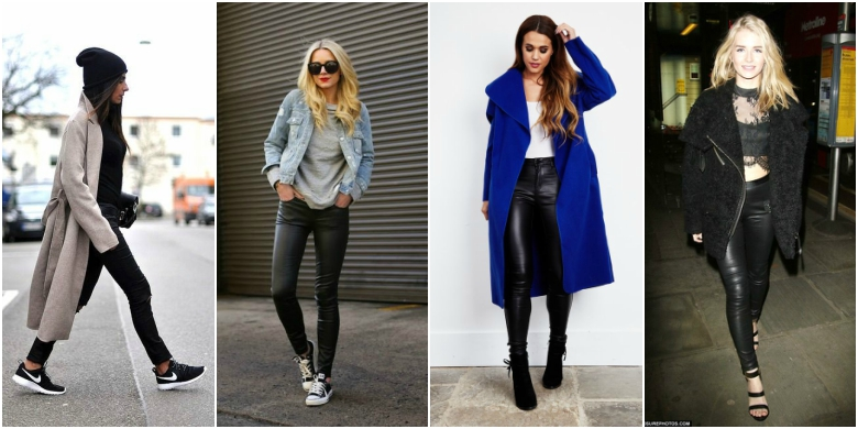 Outfits with black coated skinny jeans