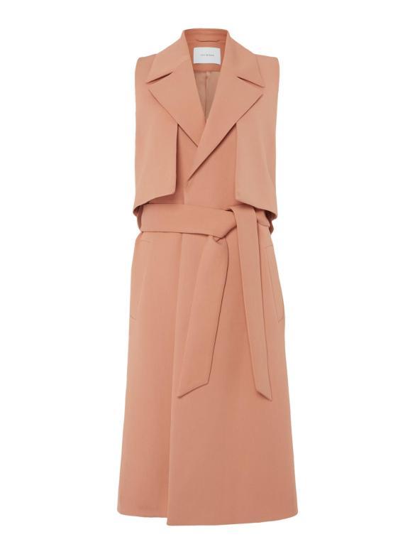 Blush - Ivy & Oak Sleeveless Trench Coat With Belt