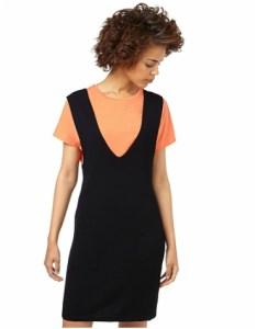 Oliver Bonas black knitted pinafore dress