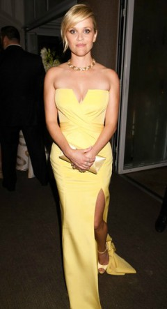 reese witherspoon yellow dress at awards