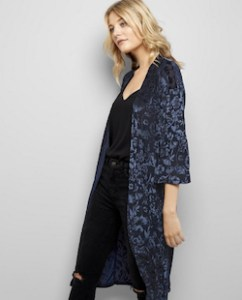 Velvet Blue Kimono Jacket