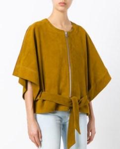Mustard Yellow Short Kimono Jacket