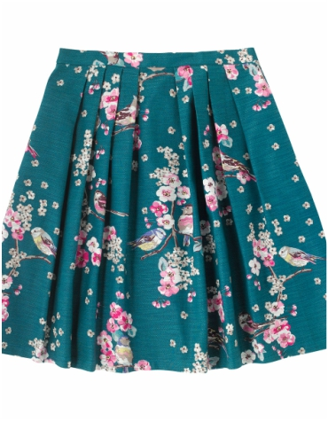 Cath Kidston Scattered Meadowfield Birds Skater Skirt