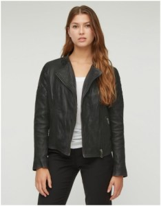 Jigsaw Black Leather Jacket