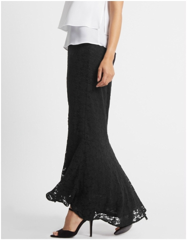 Marks and Spencer Fishtail Floral Lace Pencil Maxi Skirt