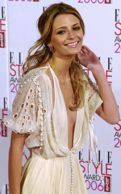 Mischa Barton beige dress at event boho style