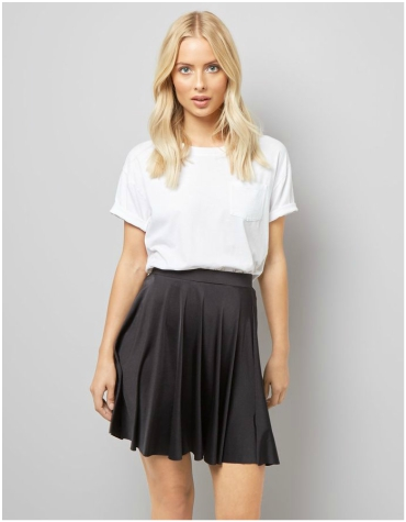 New Look Black Mini Skater Skirt