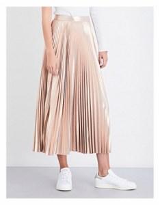 Selfridges A.L.C Bobby plisse metallic skirt