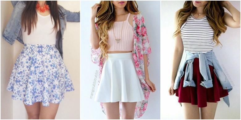 Spring Summer Skater Skirts