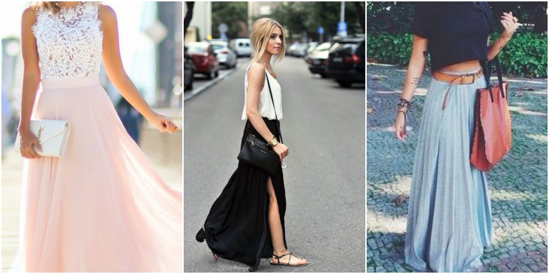 Spring Summer Maxi Skirts