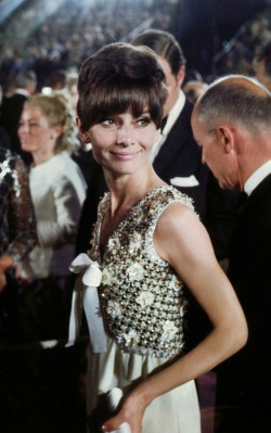 Audrey Hepburn formal awards style white dress with beading - shop the look i