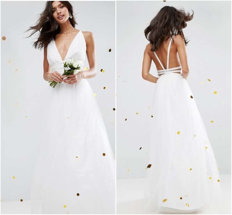 ASOS BRIDAL Tulle Maxi Prom Dress