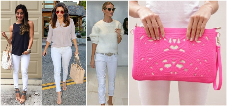 Colours with White Jeans
